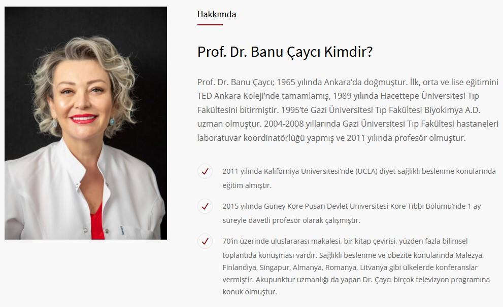 Prof. Dr. Banu ÇAYCI