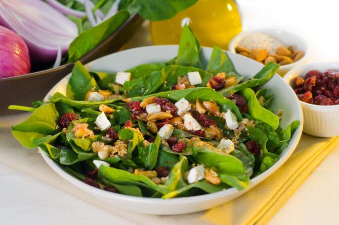 spinach salad 72H6PJH